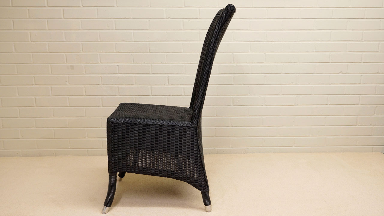 Amelie Chair - Side View - Black