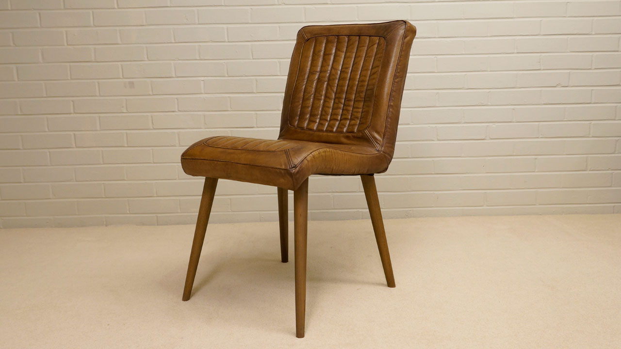 Carl Wood Chair - Angled View