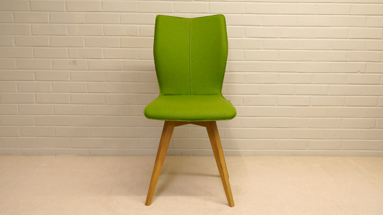 Green Wool Chair - Front View