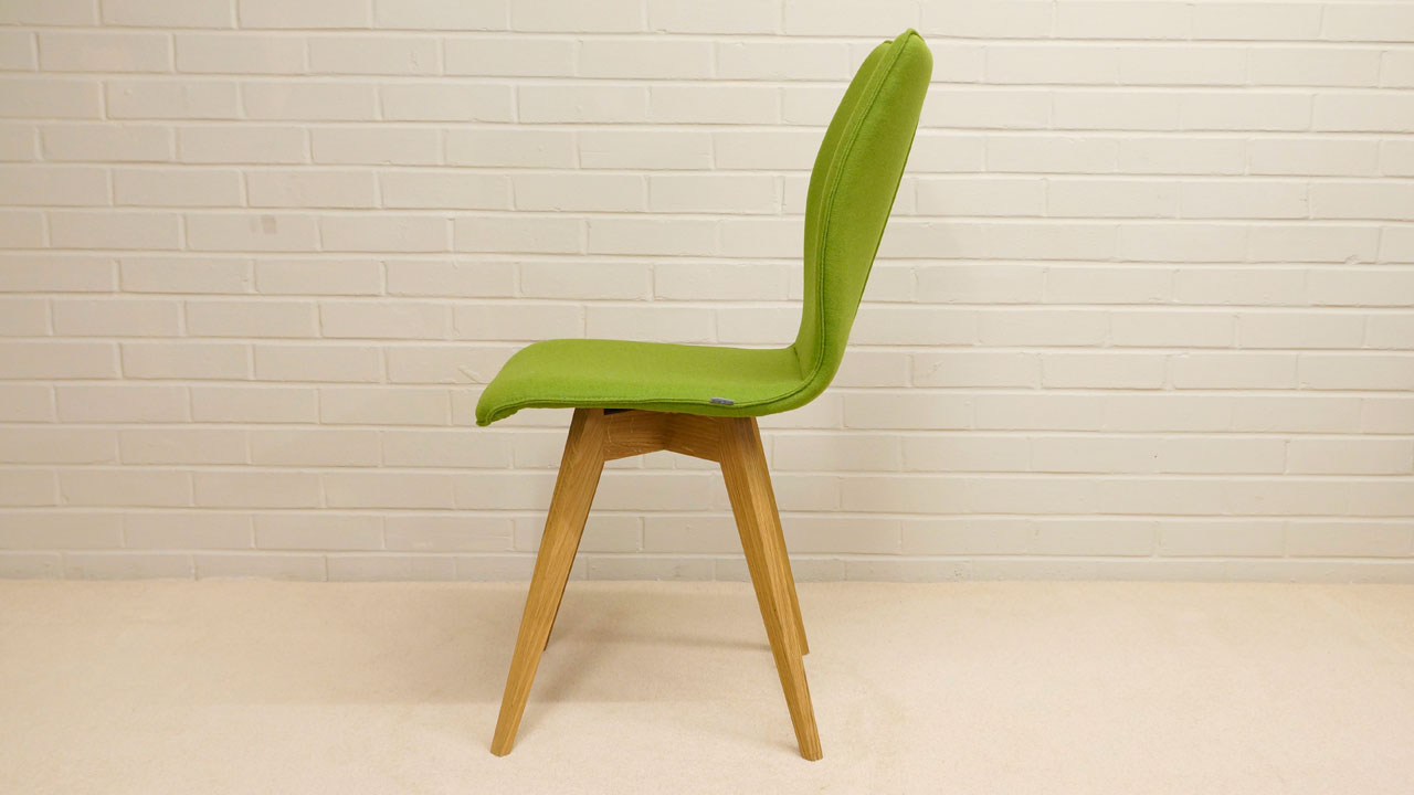 Green Wool Chair - Side View