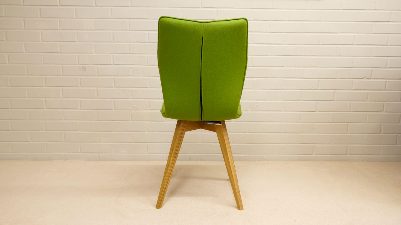 Green Wool Chair - Back View