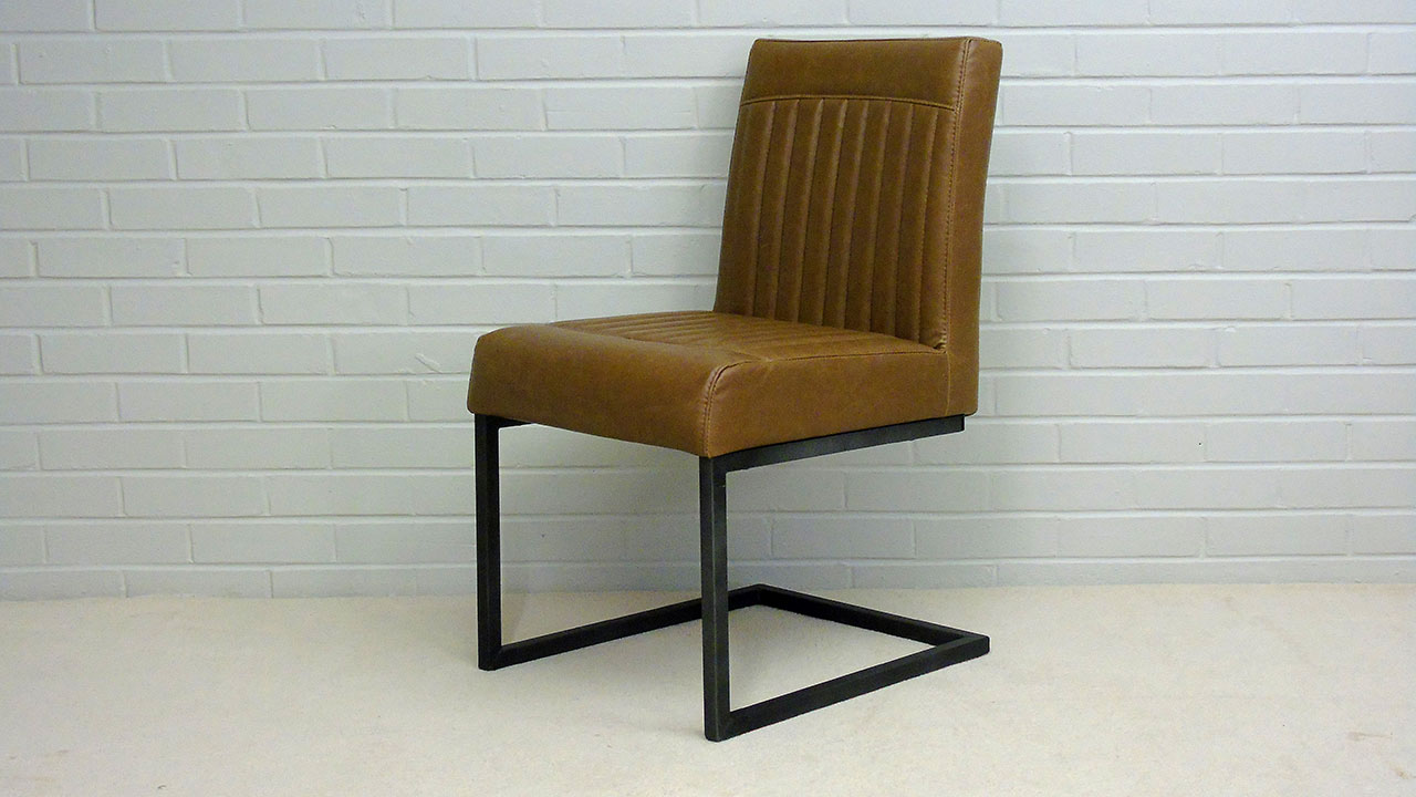 Industrial Style Chair - Angled View