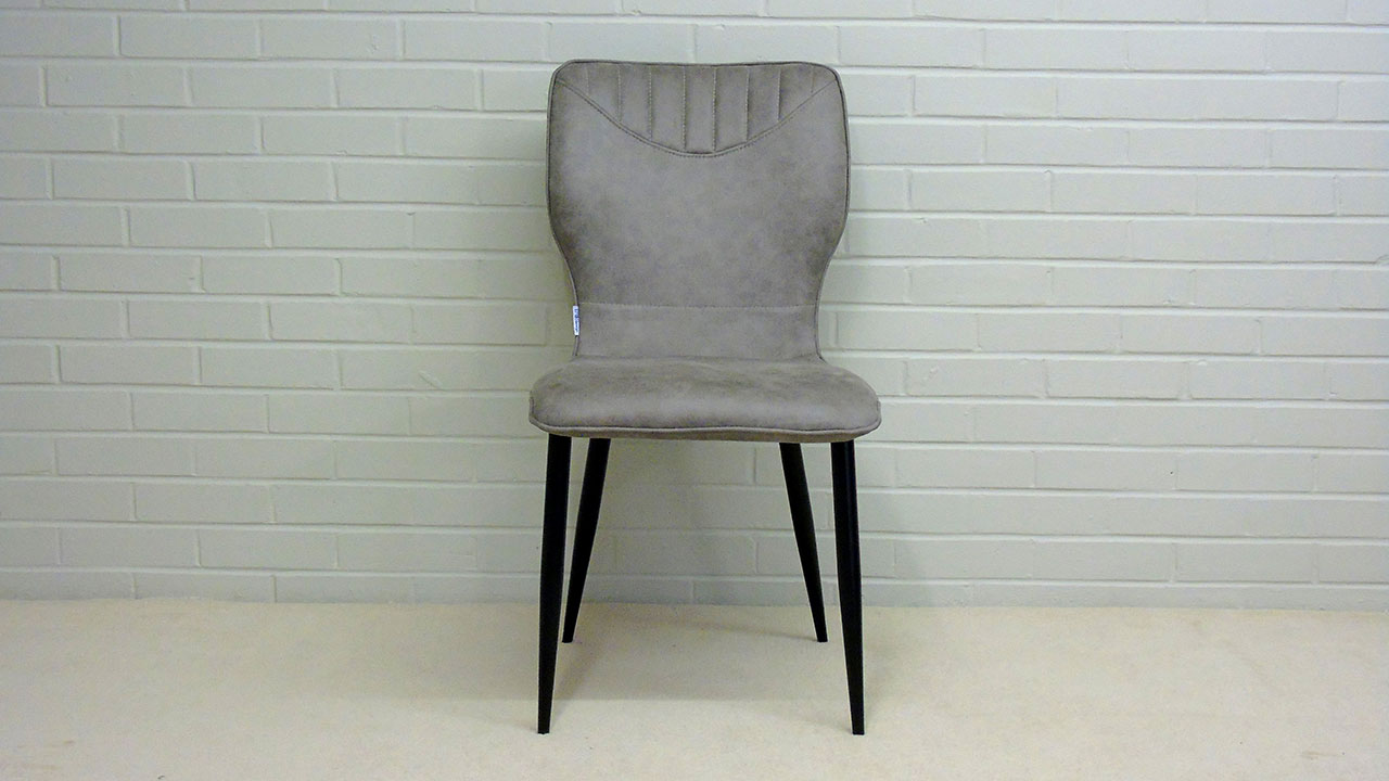 Scandi Style Faux Leather Chair - Front View