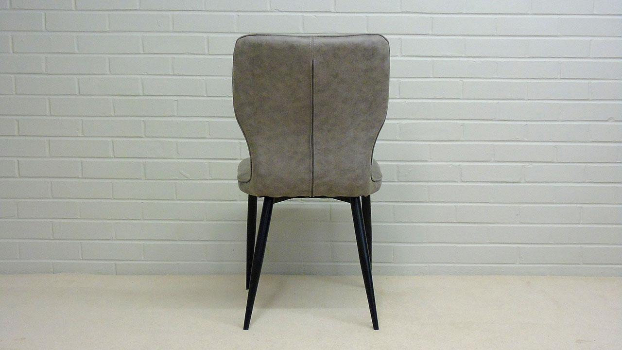 Scandi Style Faux Leather Chair - Back View