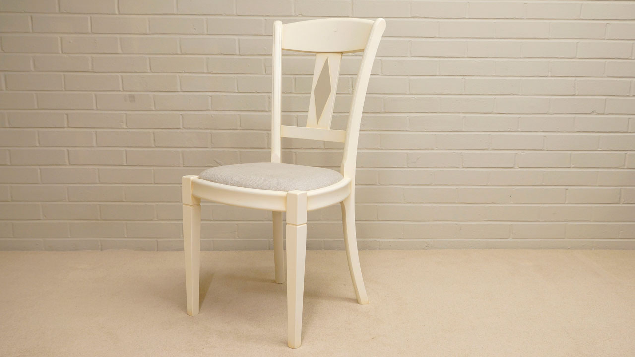 Siguier Painted Dining Chair - Angled View