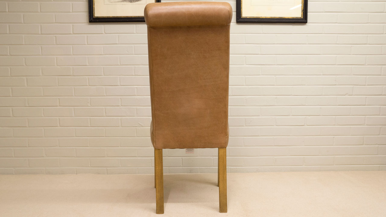 Villa Leather Side Chair - Back View