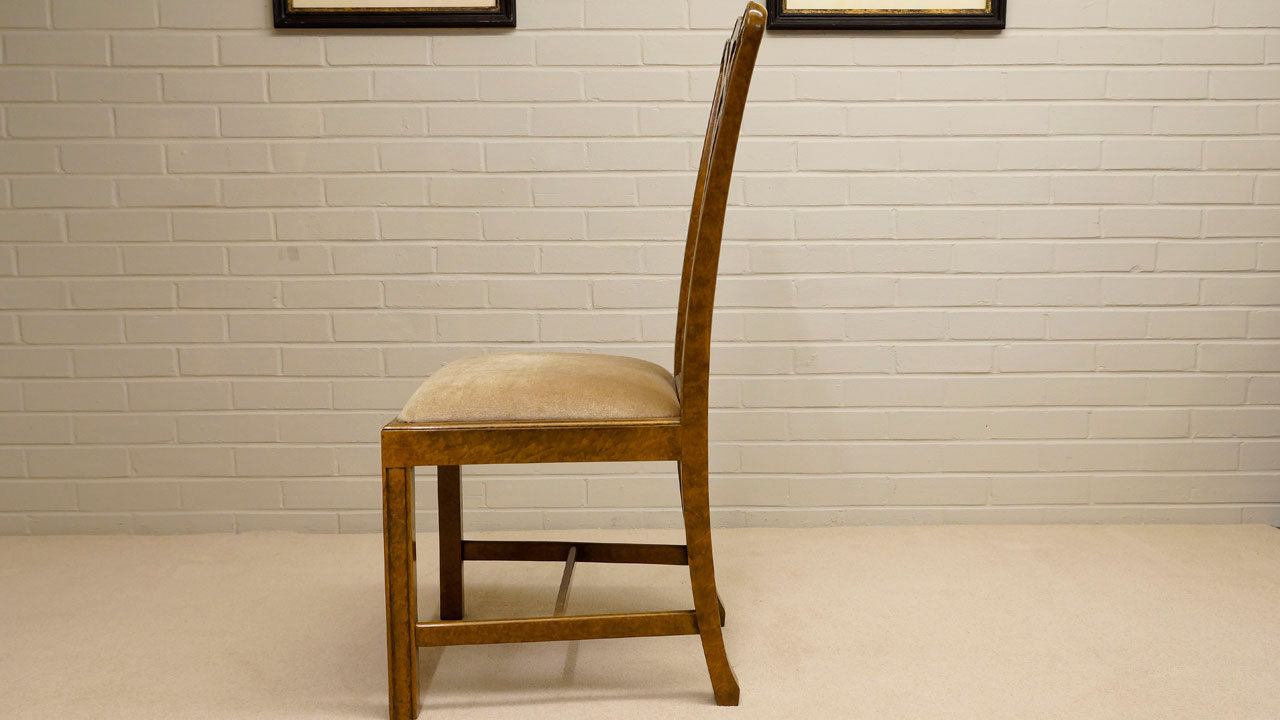 Walnut Dining Side Chair - Side View