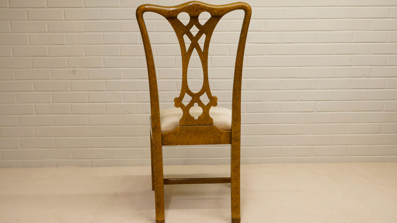 Walnut Dining Side Chair - Back View