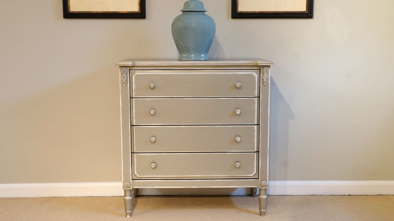 Grey Chest of Drawers (ex display) - Front View