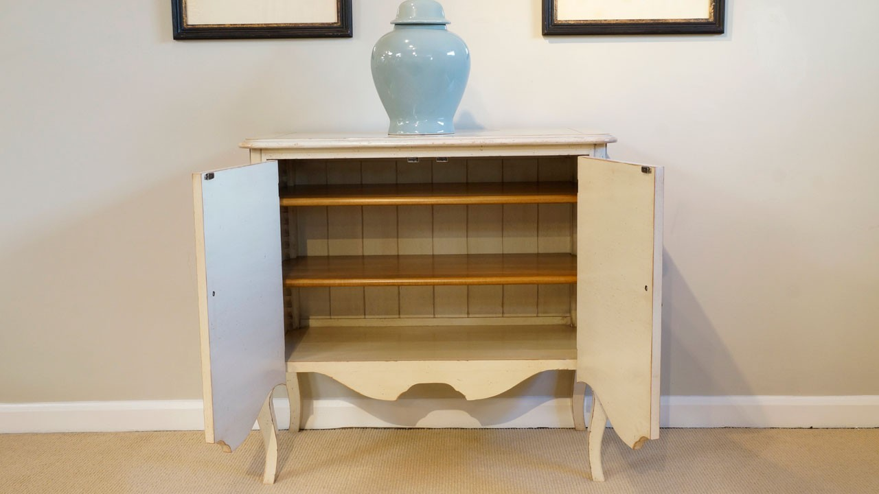 Provence Painted Chest - Front View - Doors Open