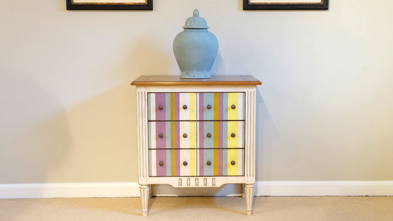 Provence Painted Chest of Drawers - Front View