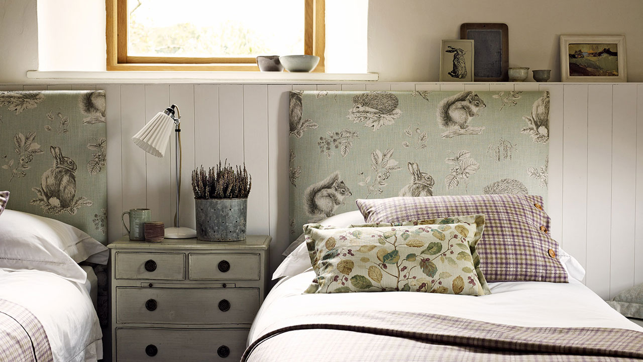 Sanderson Squirrel and Hedgehog Headboard - Main Image