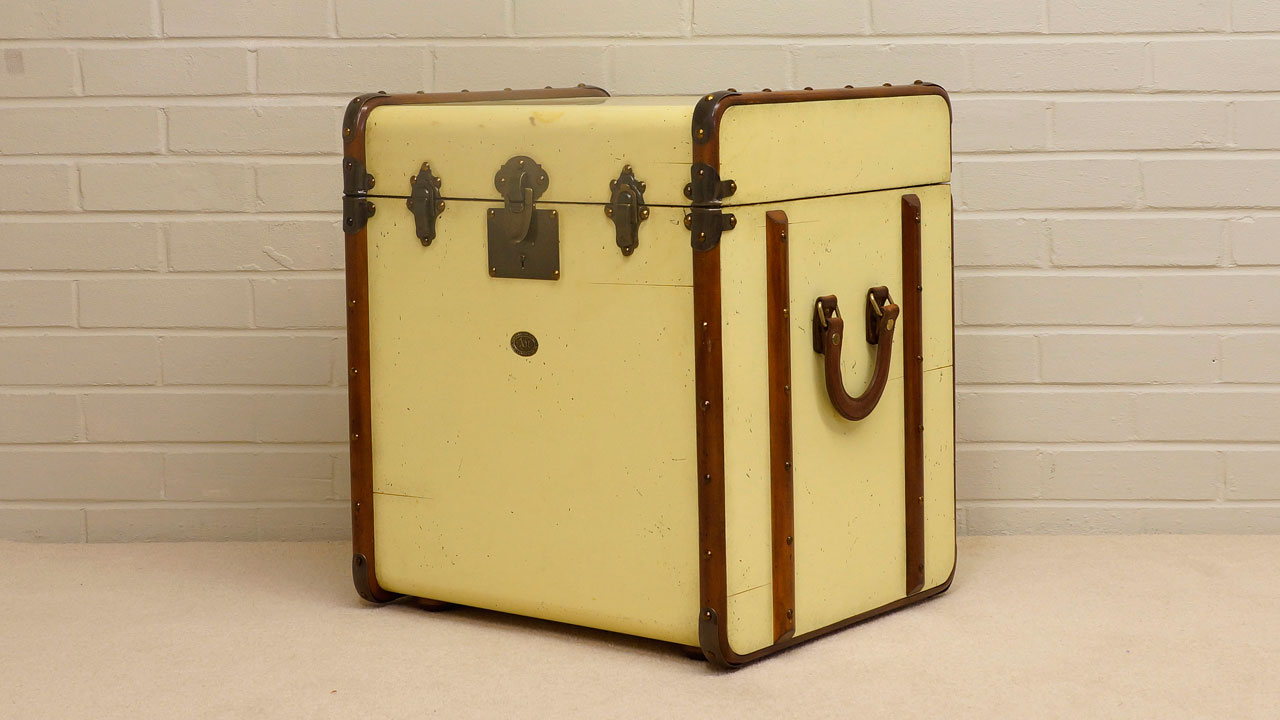 Painted Trunk - Angled View