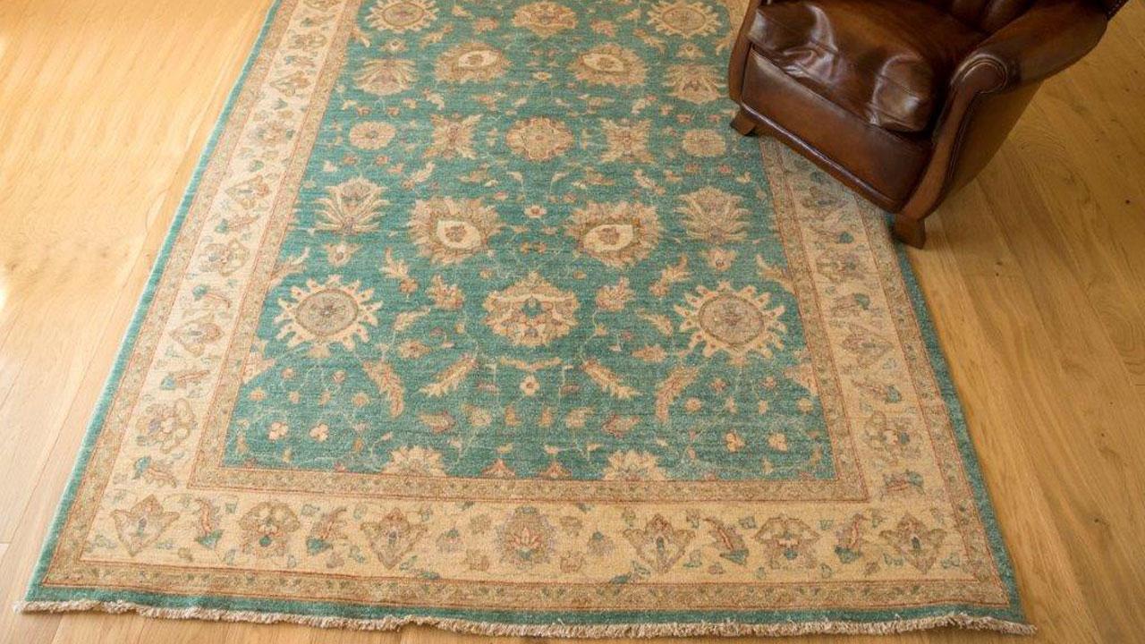Ziegler Garous Rug - Turquoise - Main Image