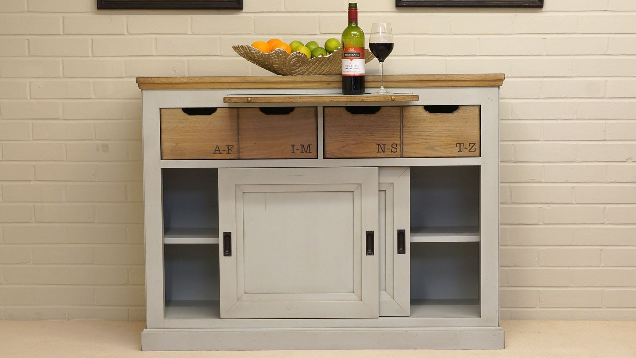 Brittany Entrance Sideboard - Front View - Doors Open