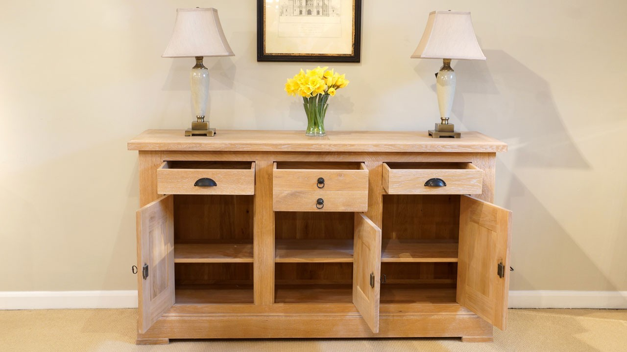 French Oak Co Sideboard Ex Display Ghshaw Ltd