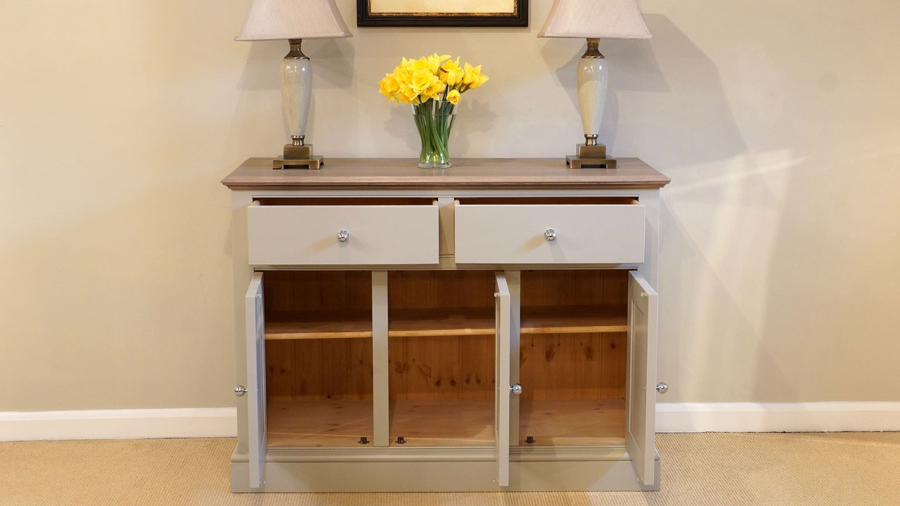 Chatsworth Sideboard - Front View - Drawers and Doors Open