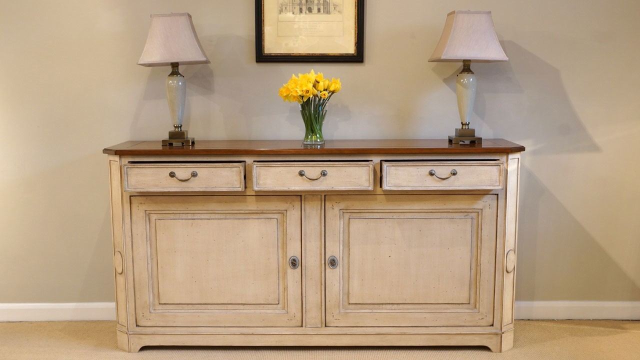 Cherrywood Sideboard - Front View - Drawers Open