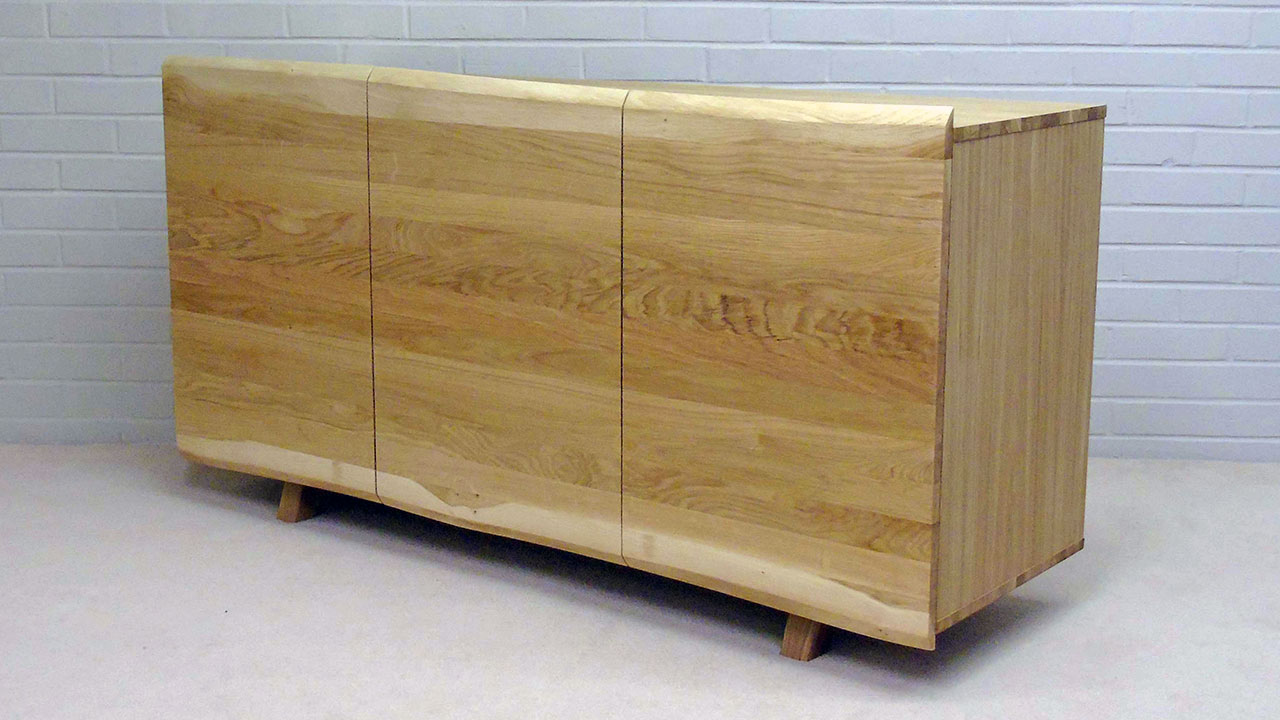Delta Oak Sideboard - Angled View