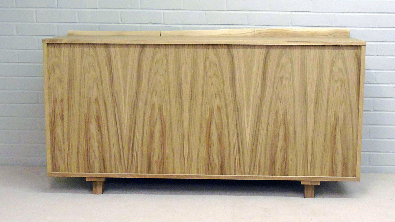 Delta Oak Sideboard - Back View