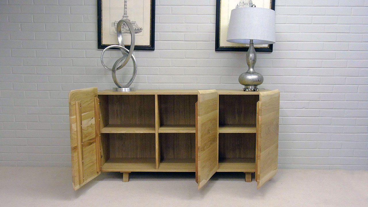Delta Oak Sideboard - Front View - Doors Open
