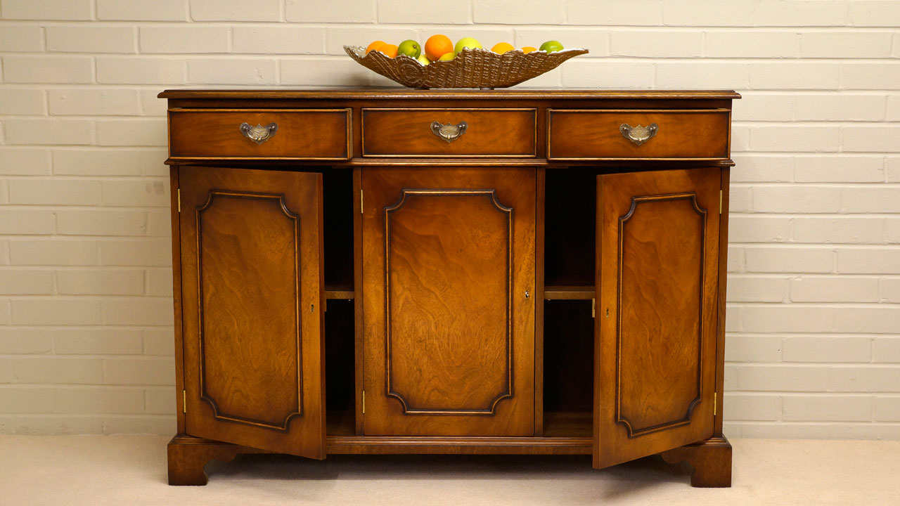 Iain James Sideboard - Front View - Doors and Drawers Open