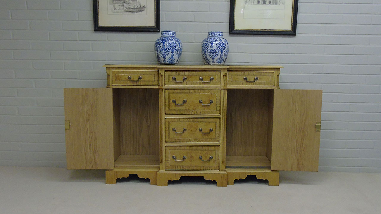 Iain James Small Sideboard - Front View - Doors Open