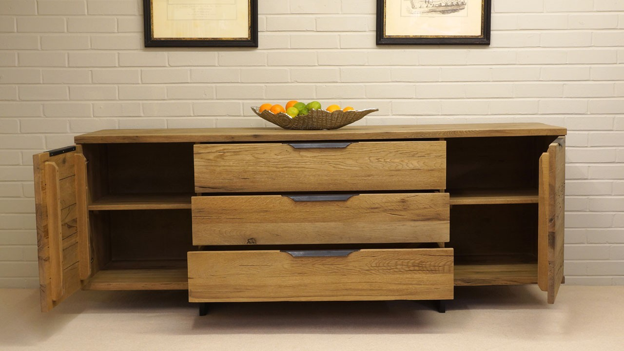 Paris Sideboard - Front View - Drawers and Doors Open
