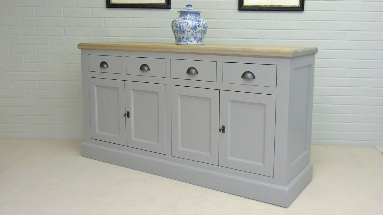 Richmond Low Painted Sideboard - Angled View