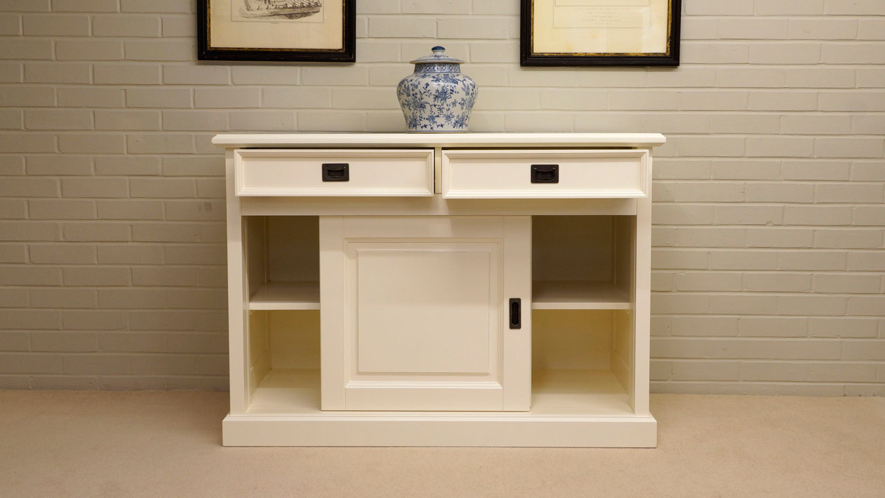 Richmond Sideboard - Front View - Drawers and Cupboards Open