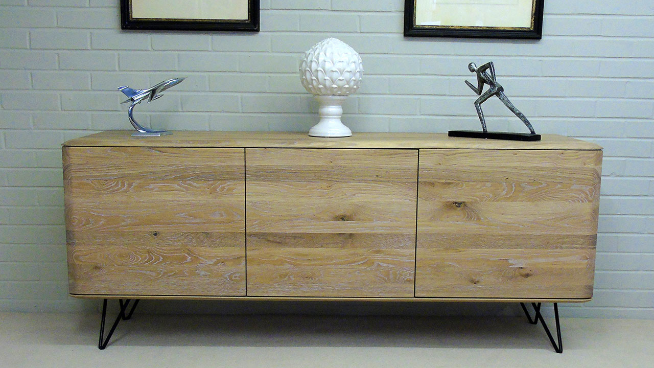 White Oak Sideboard - Front View