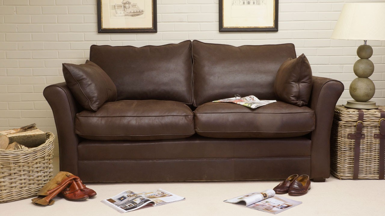 Arrabella Leather Sofa - Leather - Front View