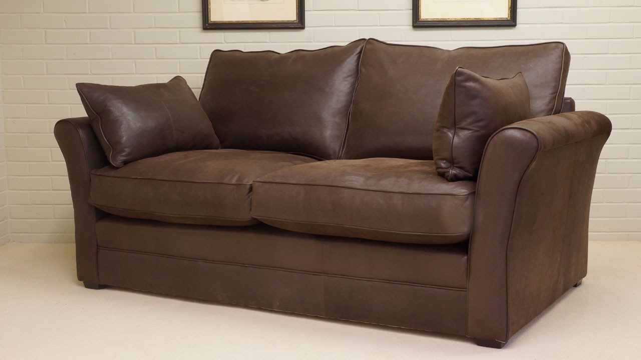 Arrabella Leather Sofa - Leather - Angled View