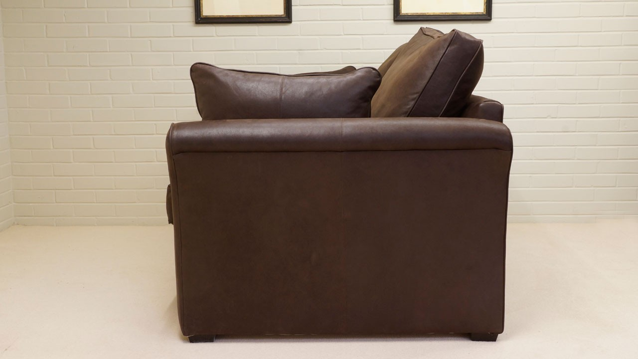 Arrabella Leather Sofa - Leather - Side View