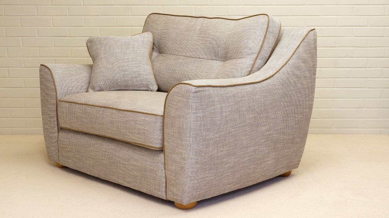Connie Sofa - Snuggler - Angled View