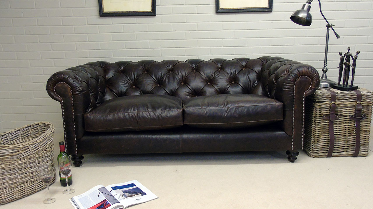Cotswold Sofa - Front View - Leather