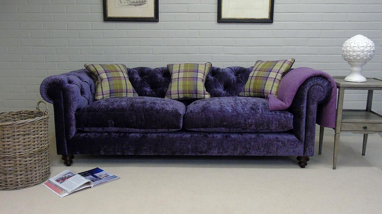 Cotswold Sofa - Front View - Velvet