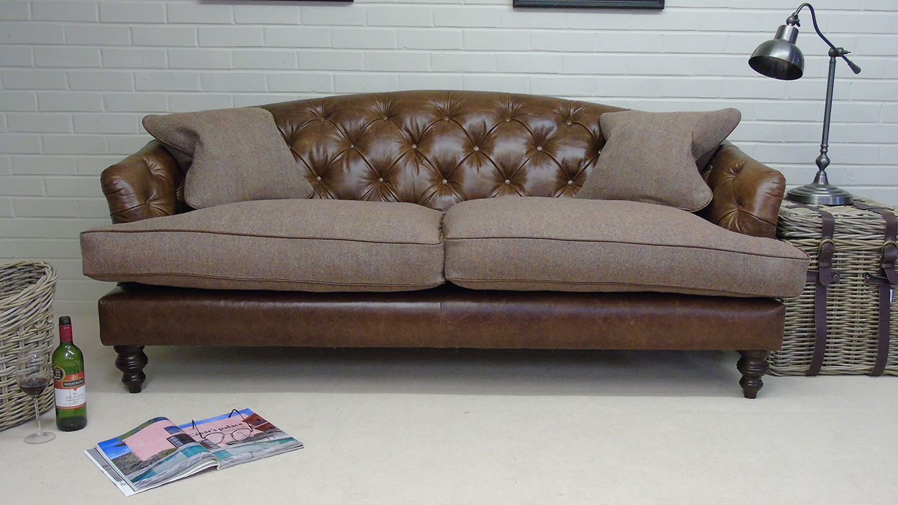 Dalmahoy Sofa - Front View - Leather