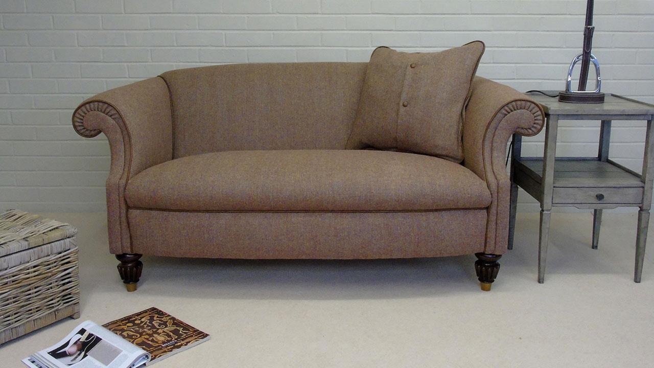 Oban Sofa - Front View - Harris Tweed