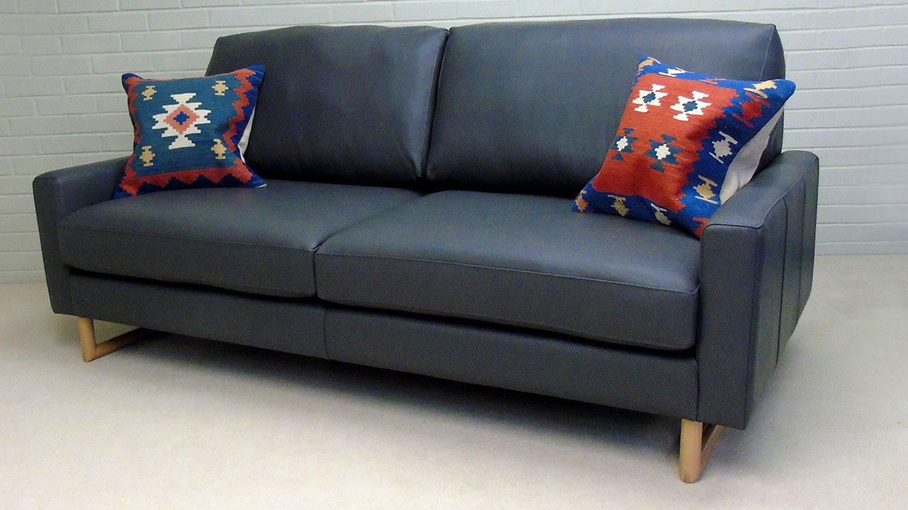 Zow Sofa - Angled View - Leather