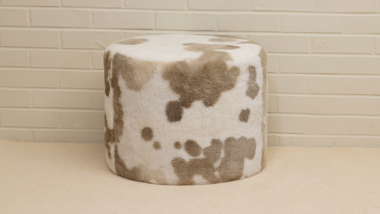Fur Stool - Front View