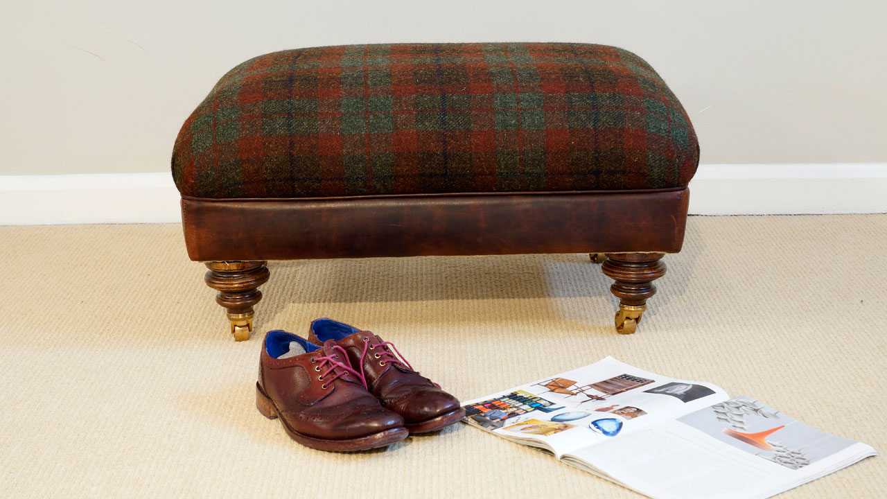 Harris Tweed Stool - Front View