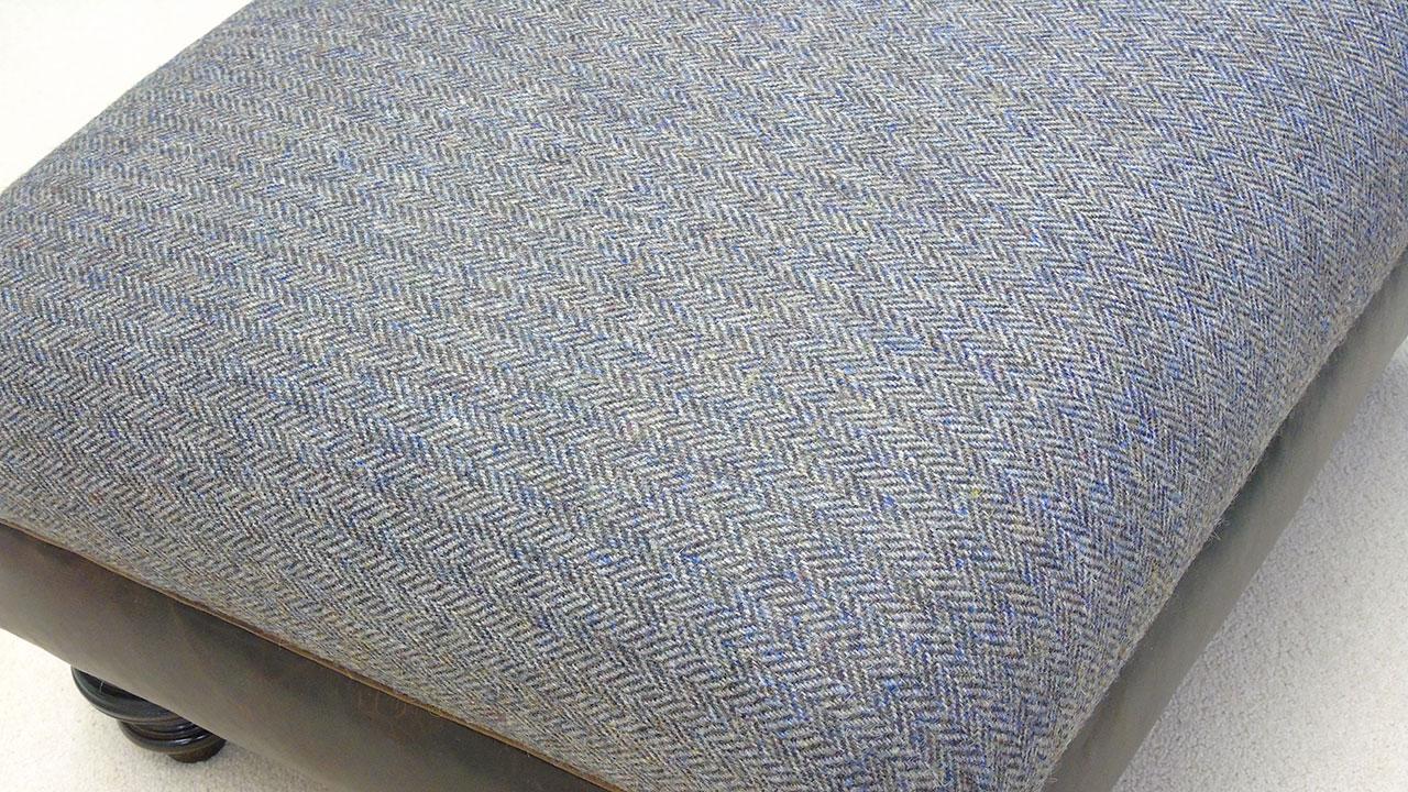 Harris Tweed Stool (no wheels) - Detail View