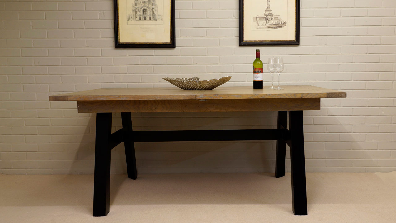 Industrial Dining Table - Front View