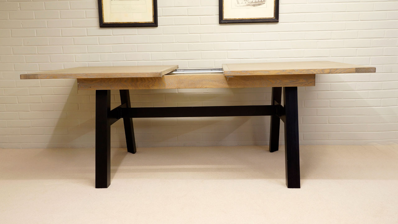 Industrial Dining Table - Extending View