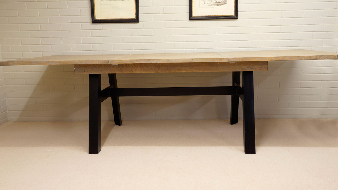 Industrial Dining Table - Extended View