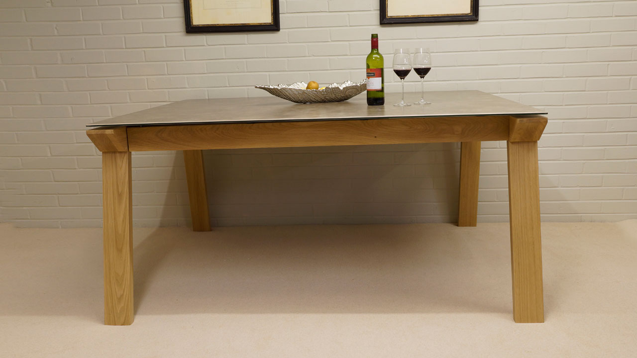 Ceramic Top Dining Table - Front View