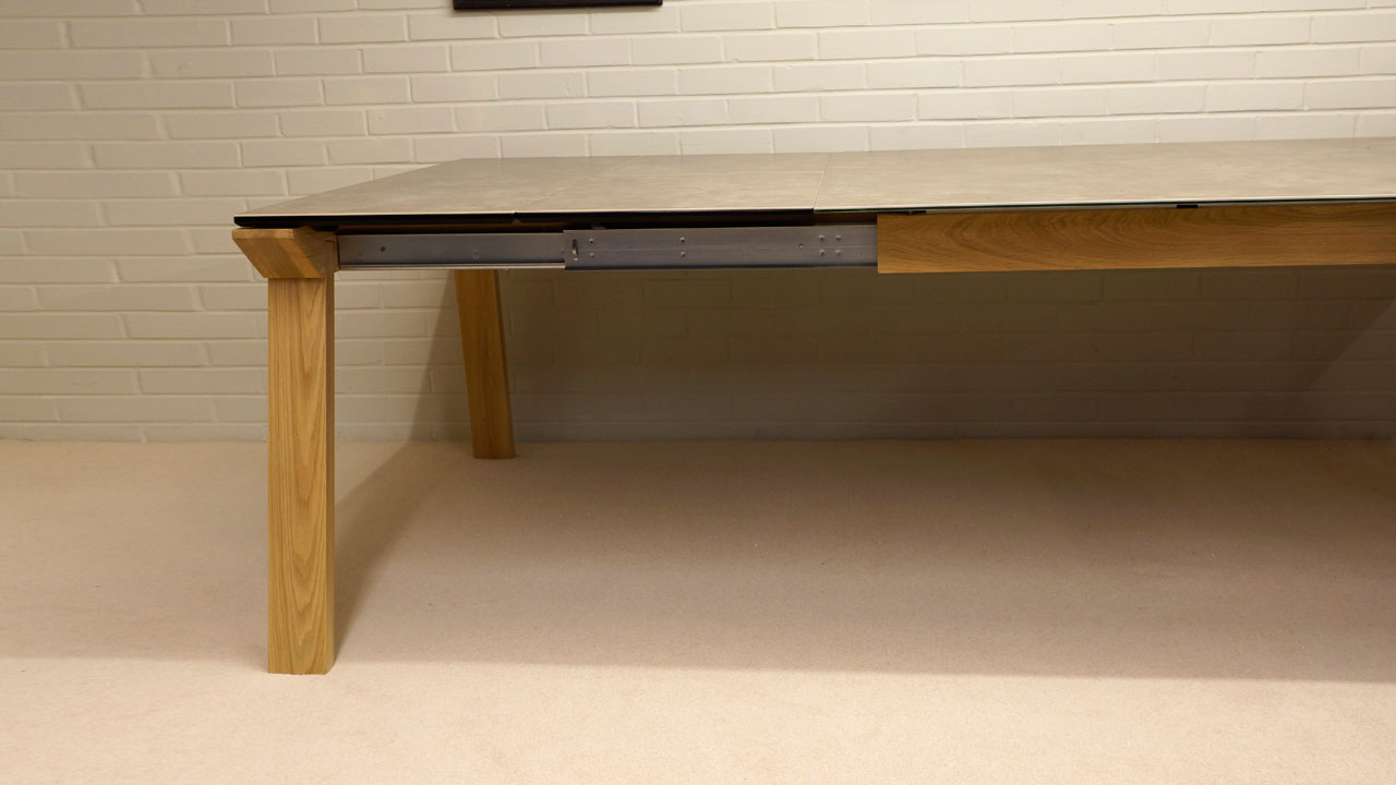 Ceramic Top Dining Table - Extended View