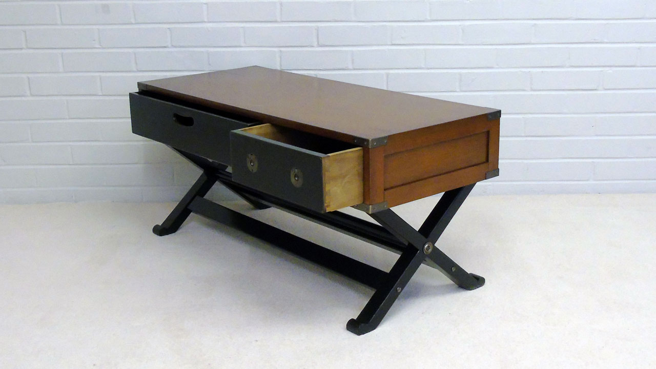 A&M Coffee Table - Angled View - Drawers Open