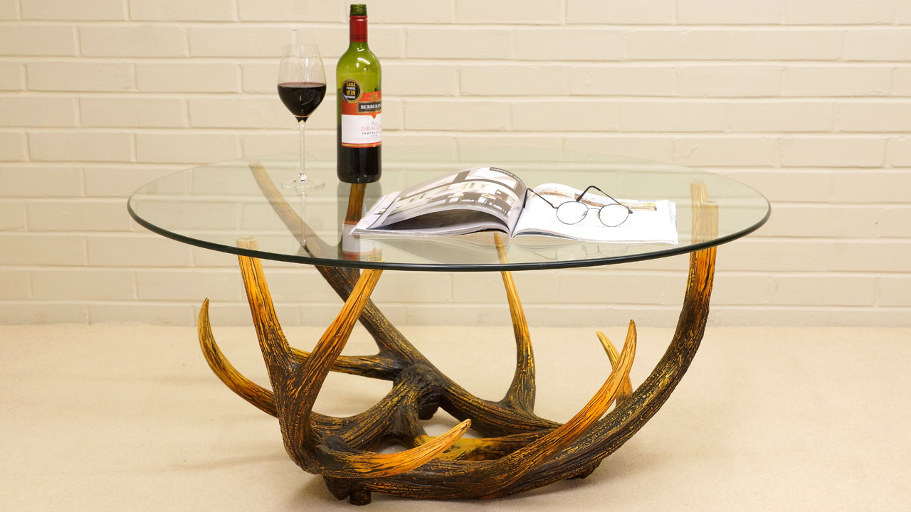 Antler Coffee Table - Front View